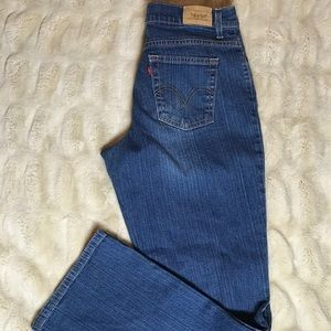Levi's 550 Relaxed Fit High-waist Boot Cut-Size 12